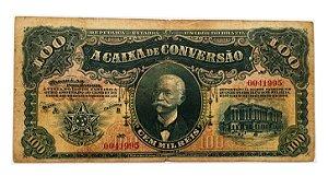 Cédula Antiga do Brasil 100 Mil Réis 1906