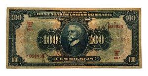 Cédula Antiga do Brasil 100 Mil Réis 1942
