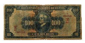 Cédula Antiga do Brasil 100 Mil Réis 1932