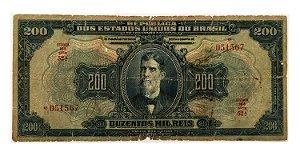 Cédula Antiga do Brasil 200 Mil Réis 1942