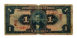 Cédula Antiga do Brasil 1 Mil Réis 1919