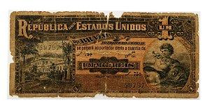 Cédula Antiga do Brasil 1 Mil Réis 1918