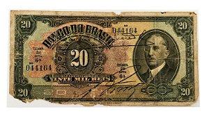 Cédula Antiga do Brasil 20 Mil Réis 1930