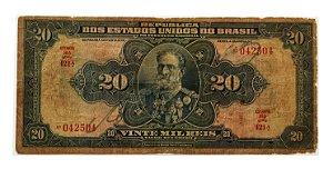 Cédula Antiga do Brasil 20 Mil Réis 1942