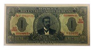 Cédula Antiga do Brasil 1 Mil Réis 1921