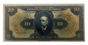 Cédula Antiga do Brasil 10 Mil Réis 1936