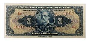 Cédula Antiga do Brasil 20 Cruzeiros 1943