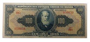 Cédula Antiga do Brasil 100 Cruzeiros 1943