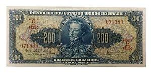 Cédula Antiga do Brasil 200 Cruzeiros 1964