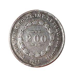 Moeda Antiga do Brasil 200 Réis 1856