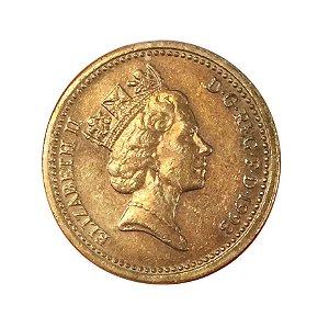 Moeda Antiga da Inglaterra 1 Pound 1993