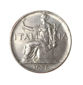 Moeda Antiga da Itália 1 Lira 1928