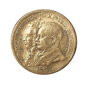 Moeda Antiga do Brasil 500 Réis 1922 - 1º Centenário da Independência do Brasil