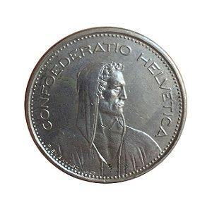 Moeda Antiga da Suíça 5 Francs 1981 - Herdsman