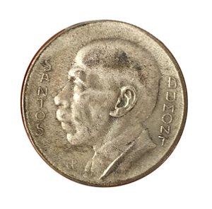 Moeda Antiga do Brasil 5000 Réis 1937 - Santos Dumont