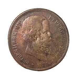 Moeda Antiga do Brasil 40 Réis 1879 - D. Pedro II