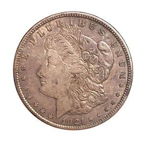 Moeda Antiga dos Estados Unidos 1 Dollar 1921 - Morgan Dollar