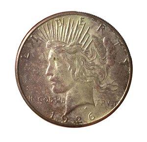 Moeda Antiga dos Estados Unidos 1 Dollar 1926 S - Peace Dollar