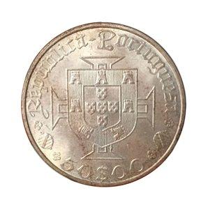 Moeda Antiga de Portugal 50 Escudos 1969 - Vasco da Gama