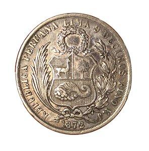 Moeda Antiga do Peru 1 Sol 1872