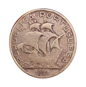 Moeda Antiga de Portugal 10 Escudos 1932