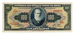 Cédula Antiga do Brasil 100 Cruzeiros 1958