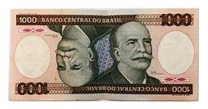Cédula Antiga do Brasil 1000 Cruzeiros 1984