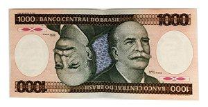 Cédula Antiga do Brasil 1000 Cruzeiros 1985