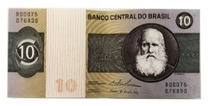 Cédula Antiga do Brasil 10 Cruzeiros 1979