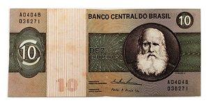 Cédula Antiga do Brasil 10 Cruzeiros 1974
