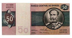 Cédula Antiga do Brasil 50 Cruzeiros 1974