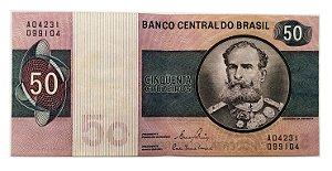 Cédula Antiga do Brasil 50 Cruzeiros 1980