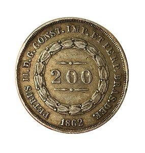 Moeda Antiga do Brasil 200 Réis 1862