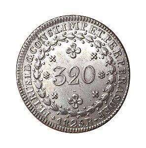 Moeda Antiga do Brasil 320 Réis 1825 R