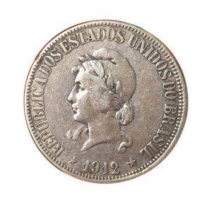 Moeda Antiga do Brasil 1000 Réis 1912