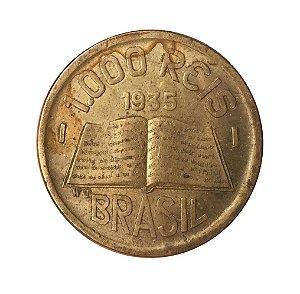 Moeda Antiga do Brasil 1000 Réis 1935 - José de Anchieta