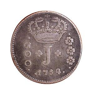 Moeda Antiga do Brasil 300 Réis 1754 R - SÉRIE J