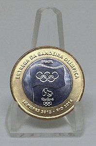 Moeda Antiga do Brasil 1 Real 2012 Bandeira Olímpica