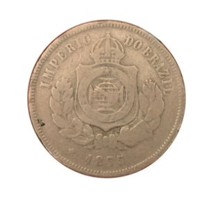Moeda Antiga do Brasil 200 Réis 1875