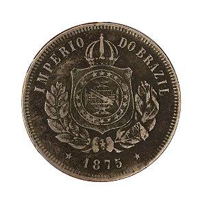 Moeda Antiga do Brasil 200 Réis 1875 - RARA