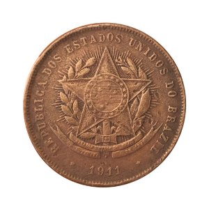 Moeda Antiga do Brasil 20 Réis 1911