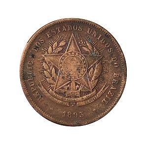 Moeda Antiga do Brasil 20 Réis 1893