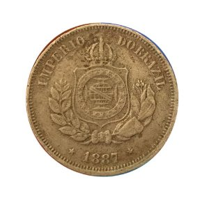 Moeda Antiga do Brasil 50 Réis 1887