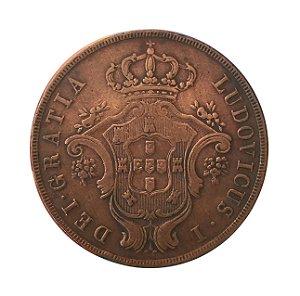 Moeda Antiga de Portugal 20 Réis 1866 - Açores