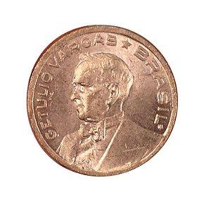 Moeda Antiga do Brasil 10 Centavos de Cruzeiro 1942 - Getúlio Vargas
