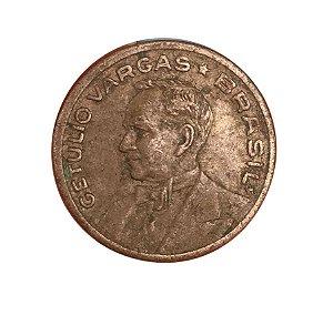Moeda Antiga do Brasil 20 Centavos de Cruzeiro 1942 - Getúlio Vargas