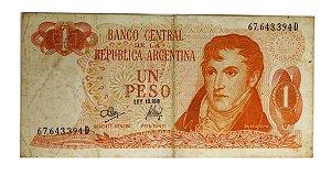 Cédula Antiga da Argentina 1 Peso ND(1970-73)