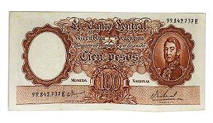 Cédula Antiga da Argentina 100 Pesos ND(1967-69)
