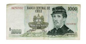 Cédula Antiga do Chile 1000 Pesos 2009