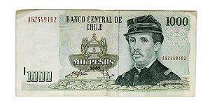 Cédula Antiga do Chile 1000 Pesos 2009